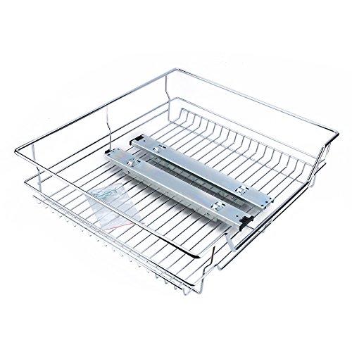 600 mm Küchenschrank mit Schiebekorb, ausziehbarer Chromdraht, Aufbewahrungskorb, Schublade, ausziehbarer Korb, Küchenschränke, Organizer (Küchenschrank-organizer-korb)
