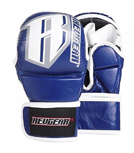 Revgear MMA Handschuhe Sparring - Blue - MMA Fight Grappling BJJ Leder Handschuhe (M) -