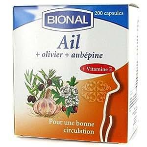 Bional - Ail olivier aubépine + vitamine e tensifit xtra - 200 capsules molles - Pour une meilleure