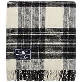 Grey Dress Stewart Tartan / Schottenmuster Wolldecke