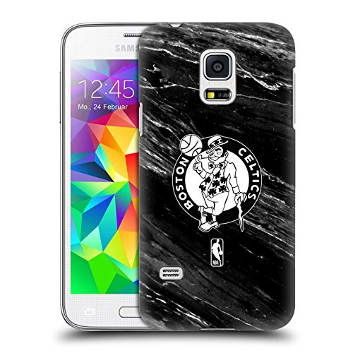Head Case Designs Offizielle NBA S&W Marmor Boston Celtics Harte Rueckseiten Huelle kompatibel mit Samsung Galaxy S5 Mini Boston Celtics Mini
