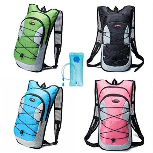 monvecle Hydration Pack Wasser Rucksack Blase Tasche Radfahren/Wandern/Klettern Beutel + 2L Trinkblase Grün 1