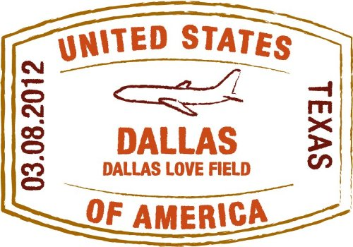 Travel International Airport Dallas Texas USA Grunge Stamp Sign Hochwertigen Auto-Autoaufkleber 12 x 10 cm