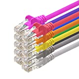 1aTTack - Cable de red UTP con conectores RJ45 (cat. 5, 10 unidades), 10 colores 5 m