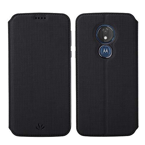 Eastcoo Kompatibel mit Motorola Moto G7 Power Hülle PU Leder Flip Case Tasche Cover Schutzhülle mit [Standfunktion][Magnetic Closure][Wallet]für Moto G7 Power Smartphone (Moto G7 Power, Schwarz)