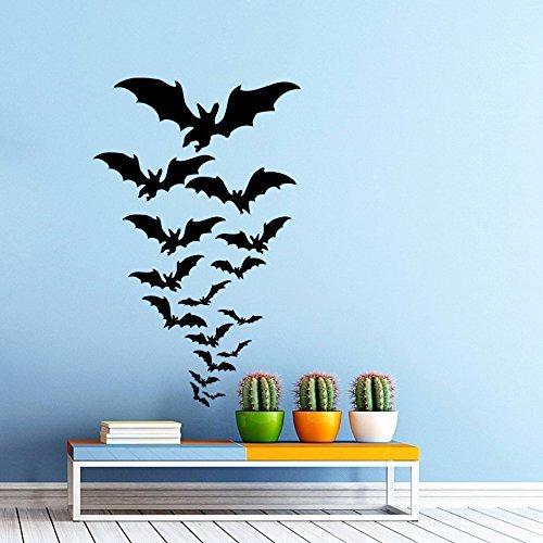 Wandtattoo Fledermaus Set Fledermäuse Fröhliches Halloween Vinyl Aufkleber Happy Halloween Schlafzimmer Dekoration für Zuhause Kinderzimmer Wandsticker Wandbilder Wandaufkleber