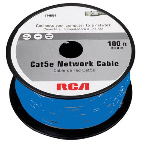 RCA 100-feet CAT5e-Kabel–Blau (tph534br) (Rca-audio-kabel 100ft)