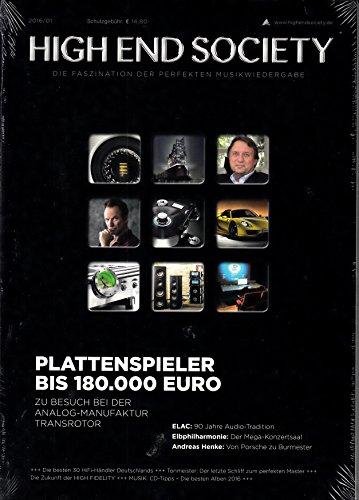 High End Society 1 2016 Plattenspieler bis 180.000 Euro Elac Elbphilharmonie Zeitschrift Magazin Einzelheft Heft Musik Musikwiedergabe