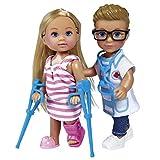 Evi Love und Timmy Spielzeugpuppe Doktor Krankenhaus 12 cm Kleine Puppe Medizin Modepuppe Spielzeug...