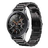 Leafboat pour Bracelet Samsung Galaxy Watch 46mm, 22mm Bracelet Huawei Watch GT Classique Métal Acier Inoxydable Remplacement Bracelet pour Galaxy Watch 46mm--Noir