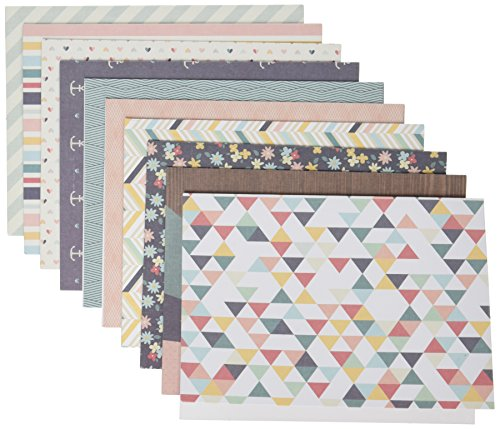 Pink Punch Brads (American Crafts 10,8cm x 14cm pink Paislee A2Karten und Umschläge, Solstice (40Stück))