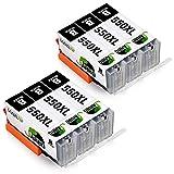 JARBO Kompatibel mit Canon PGI-550XL CLI-551XL Druckerpatronen für Canon Pixma MX925 MX725 MX920 iX6850 iP7200 iP7250 MG5400 MG5450 MG5550 MG5650 MG6450 MG6650 (6 Schwarz)