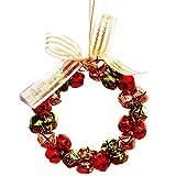 libertey Weihnachtskranz mit Tinkle Bell Bowknot, Ideal Deco Weihnachten für Hauptfenster Speicher Hotel Mall Weihnachtsbaum by