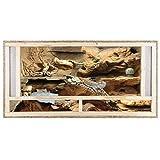 repi Terra Terrario de madera 120x 60x 80cm con ventilación frontal de tableros OSB con vidrio flotado