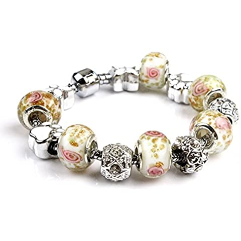 LQT cinturino Charm da donna, perle Murano