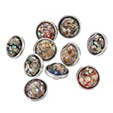 Souarts Mini Silberfarbe 4.5mm Click Button 10St.