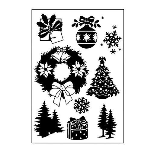 Fogun Perfekt Transparente Silikonstempel Set, Fröhliche Weihnachten (E#) -