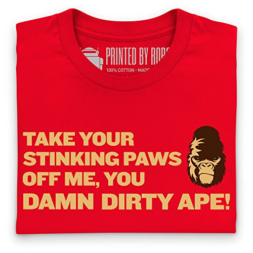 Inspired By Planet Of The Apes - Dirty Ape T-Shirt, Herren Rot