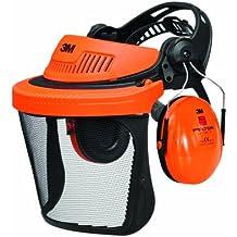 Combinaison forestière avec coiffe 3M™ G500 orange et visière V5C et coquilles auditives H510A