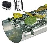 SIDCO 6 m Dachrinnenschutz Laubschutz Gitter Dachrinne Laubfang Regenrinne Marderschutz