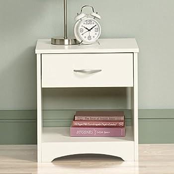 DecorNation Meraki Engineered Wood End Table Nightstand, White