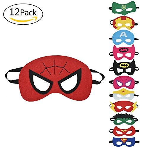 Super Masken | | Augen Masken | | Mitgebsel | Kindergeburstagen | Gastgeschenke für Cosplay Party masquerade im Alter von 3 bis 12 Jahre alt (Halloween Superhelden-augen-masken)