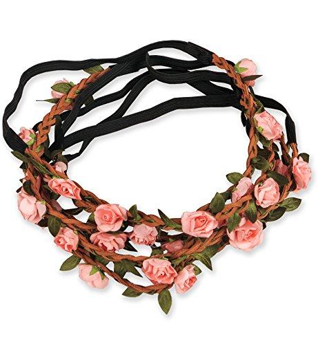 Sumolux 12 pcs Coronas Diadema de Flor Adorno de Pelo Accesorio para Niña Mujer Fiesta Cumpleaños