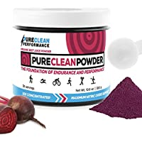 PureClean Powder - 100% USA Grown Organic Beet Juice Powder (Jar 300G) Nitric Oxide Booster -No Fillers, Sweeteners, Additives. Non-GMO Nitrate Beet Root Powder. Organic Super Beets Energy Powder Supplement