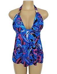 SH Accesorios externos Traje de baño de Cuello colgado en Color Puro Traje de baño de triángulo para Mujer Dividido…
