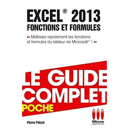 COMPLET POCHE FONCTIONS FORMULES EXCEL 2013