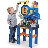 Unbekannt Bob der Baumeister Werkbank mit 92 Teilen Kran 117x82cm • Kinder Spielzeug Werkzeug Werkstattbank Werktisch