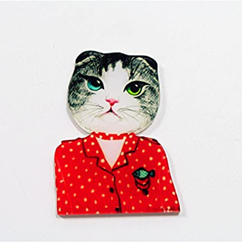 Nuovo trasporto 2pcs gatto bello Accessori di moda acrilico cartone animato regalo dei monili collare spilla spilla pin, Pet, 1020
