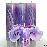 Candela Lotus-Kerzen AQUARELL Lilia Violett 28cm