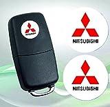 Mitsubishi Emblem logo Schlüssel Fernbedienung Set Satz 14mm - 2Stück