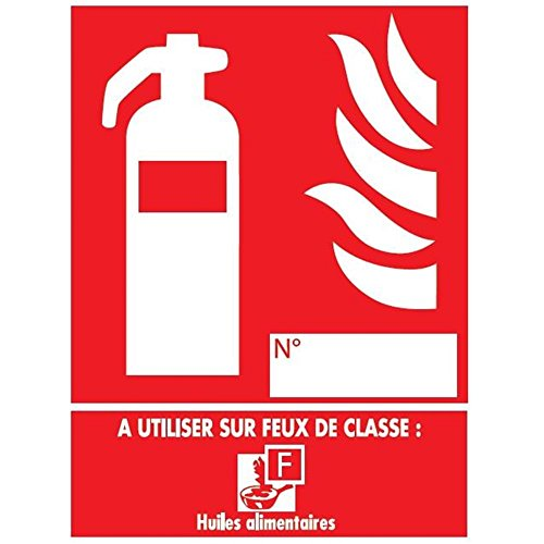 Feuerlöscher-Panel der Klasse F - PVC - 150 x 200 mm (A Klasse Feuerlöscher Der)