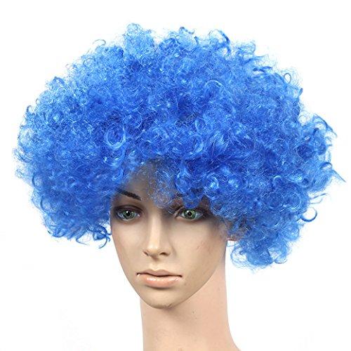 Unbekannt Sweet home-parrucca lockig fan-parrucca Clown blau (Costums Clown)