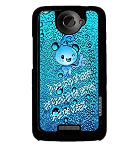 Fuson Premium Drop Of Ocean Metal Printed with Hard Plastic Back Case Cover for HTC One X