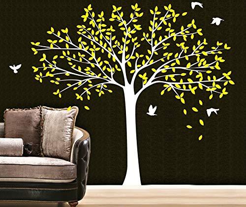 nkfrjz Albero genealogico Uccelli Wall Vinyl Art Home Decals Carta Curva murale Adesivo da Parete Mondo 170x190cm