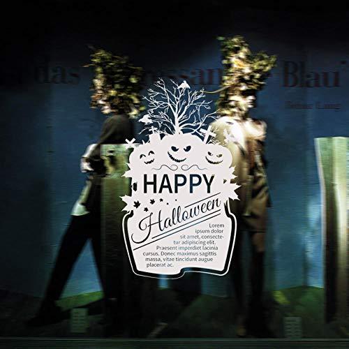 Onlymygod Halloween Kürbis Bar Anime Halloween Haus Kürbis Gesicht Kombination Abnehmbarer Hintergrund Umwelt Gesundheit 56x56cm
