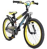 BIKESTAR Premium Sicherheits Kinderfahrrad 20 Zoll für Mädchen und Jungen ab 6 Jahre ★ 20er Kinderrad Mountainbike ★ Fahrrad für Kinder Schwarz & Gelb