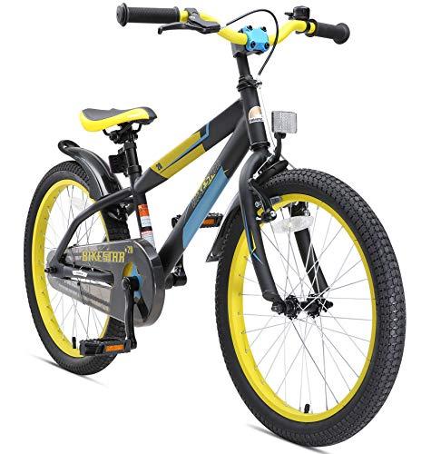 BIKESTAR Bicicleta infantil para niños y niñas bicicleta de montaña | Bici 20 pulgadas | Color Negro | Frenos de tiro lateral y freno de contrapedal | A partir de 6 años | 20' Edición Mountainbike 2018