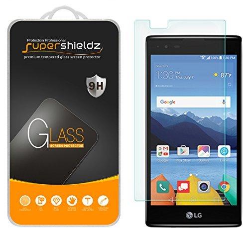 [2er Pack] Supershieldz für LG K8V (Verizon Nur) [Nicht Fit für LG K8Modell] gehärtetem Glas Displayschutzfolie, Kratzfest, Keine Fingerabdrücke, blasenfrei, lebenslange Umtausch-Garantie Verizon Pack