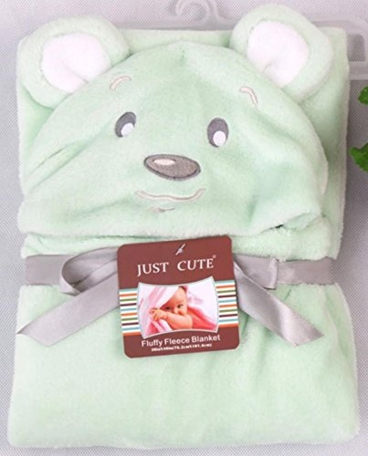 BRANDONN UltraSoft Extra Large C-Green Premium Supersoft Animal Hooded Wrapper / Bathrobe(C-Green Cute Dog)