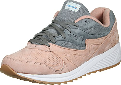Saucony Light Gris/Dark Gris Grid 8000 Zapatillas-UK 5
