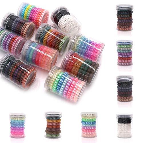 Set elastici per capelli 9 pezzi vari colori