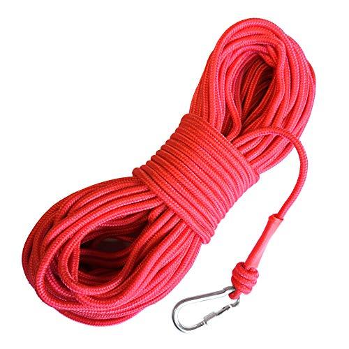 LeBigMag | Outdoor Seil ø 8 mm | 30 m | extrem reißfest bis 800 kg | mit Schraubkarabiner | Nicht als Kletterseil verwendbar