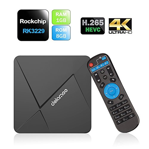 Smart TV BOX 4K Kodi 16.1 Android 5.1 Rockchip RK3229 Quad-core Cortex A7 1G / 8G TV Box/ Game Palyer Streaming Media Player con WiFi-