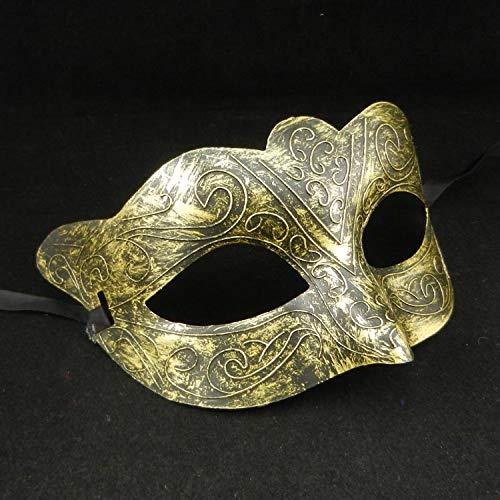 ner und Frauen Vintage griechischen römischen Fighter Fox Half Face Maskerade Maske Kostümfest Requisiten C 11 cm x 16 cm ()