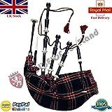 Highland Dudelsack Palisander schwarz Farbe Halb Set bereit zu spielen