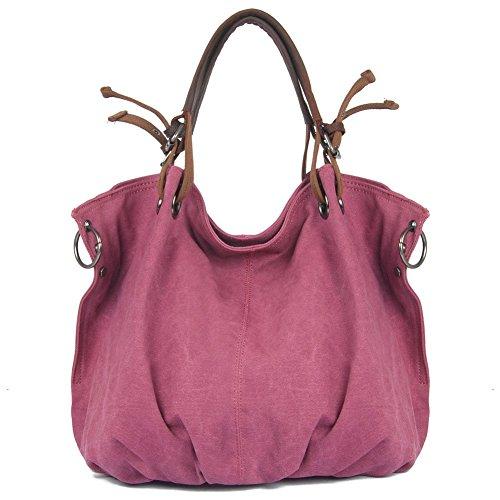Everdoss Femmes sac à main en toile sac de messager de grande capacité sac à bandoulière sac de loisirs